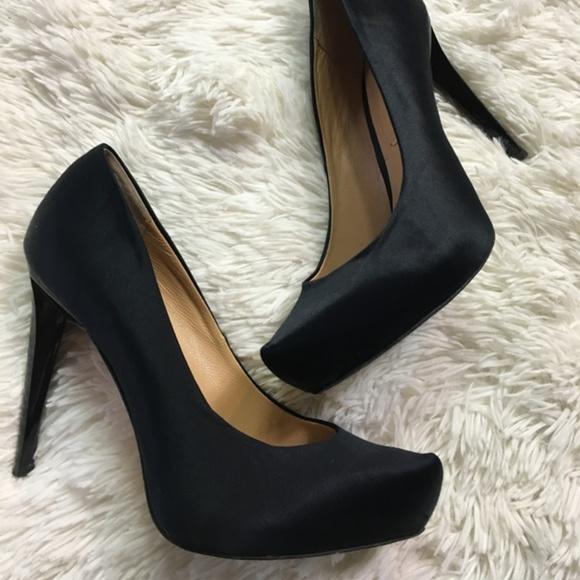 ca2505e1d5a1 BCBGMaxAzria Shoes - BCBG Max Azria Heels Pumps 6 Satin Black Platform